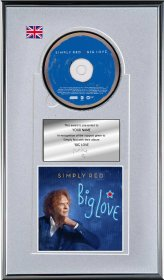 Simply Red Personalised Award 'Big Love'
