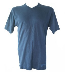 Blue V Neck T Shirt