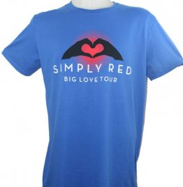 Blue Big Love Tour T Shirt With 2015 European Tour Date Back Print