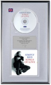 Simply Red Personalised Award 'Songs Of Love'