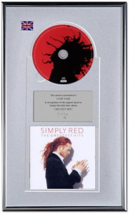 Simply Red Personalised Award 'Greatest Hits'