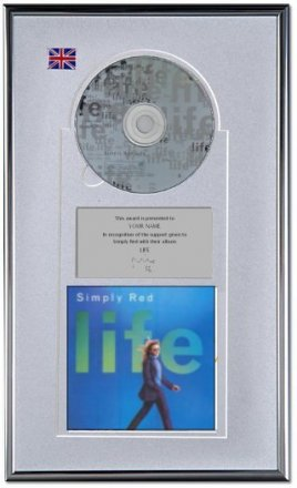 Simply Red Personalised Award 'Life'