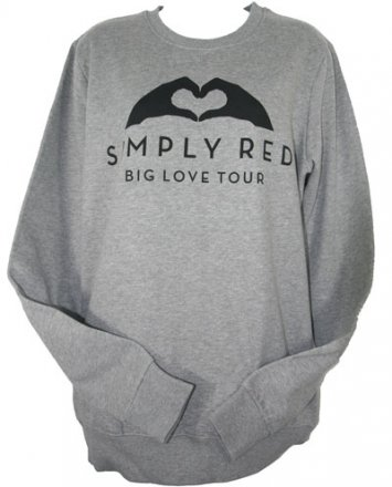 Grey Big Love Sweatshirt